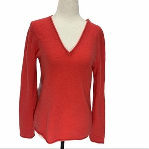 Lord & Taylor 100% Cashmere Sweater V-Neck S